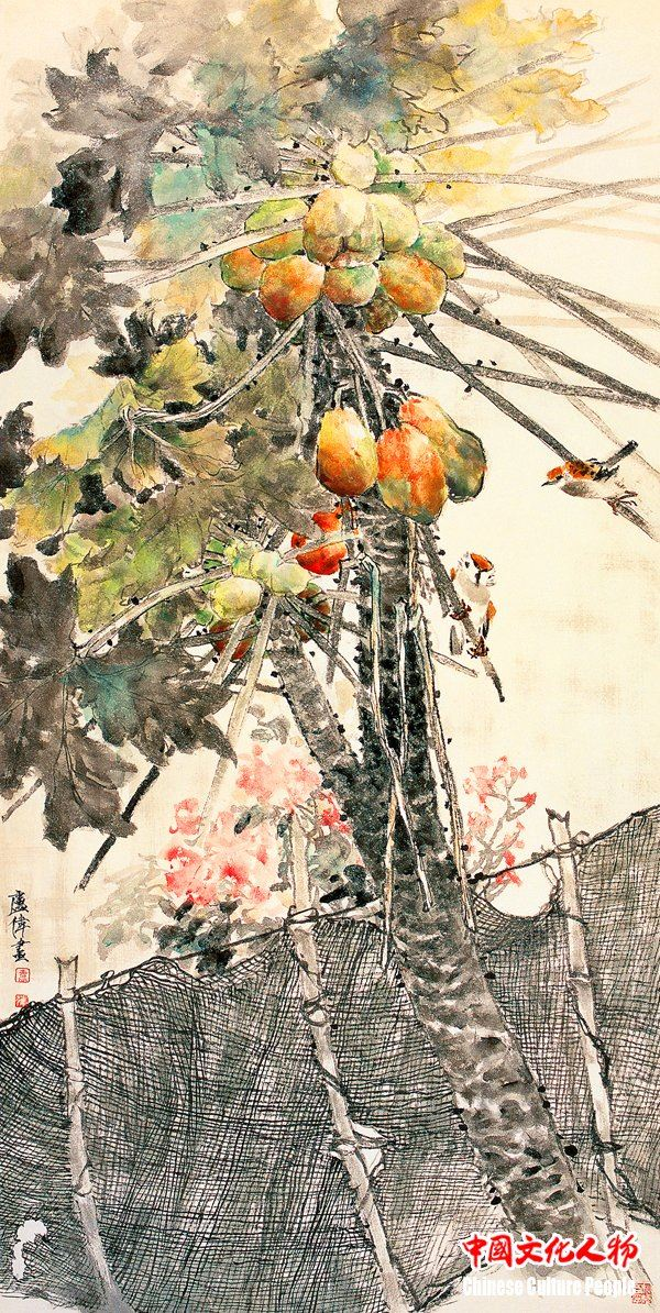 卢伟:续写中国水墨工笔花鸟画